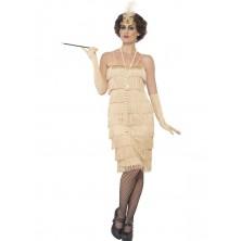 Kostým Flapper dlouhé, zlaté