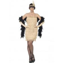 Kostým Flapper krátké, zlaté