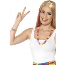 Náhrdelník a náramek hippie