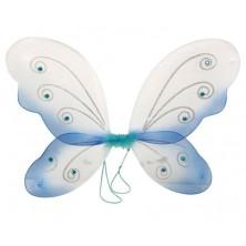 Motýlí křídla modrobílá
