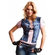 Tričko 3D Motorkářka