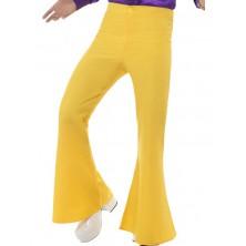Kalhoty Hippie žluté pro dospělé