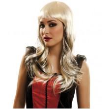 Paruka blond s černými pramínky
