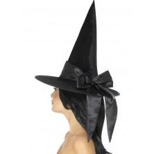 Klobouk Čarodějnice černá mašle