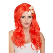 Dámská paruka Mořská panna oranžová