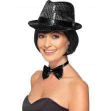 Flitrový klobouk černý I
