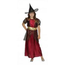 Dětský červený kostým Čarodějnice