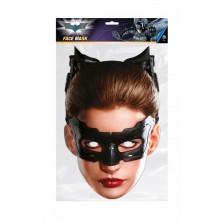 Papírová celoobličejová maska Catwoman