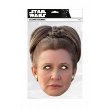 Papírová maska Princezna Leia I