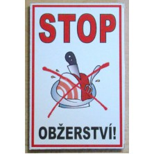 Magnetka Stop obžerství!