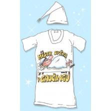 Noční košile s čepičkou Mistr světa v gauč