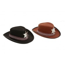 Dětský klobouk Sherif černý